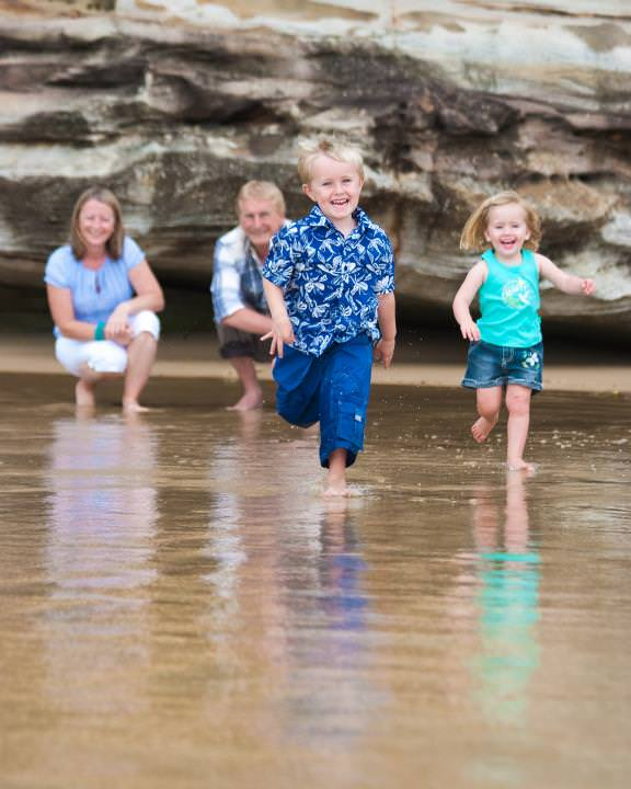 Beach excitement with the kids