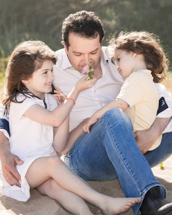 Father and children moment