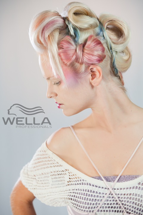 Wella - pastel tones on grey