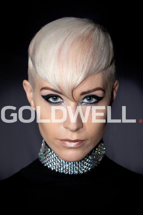 Goldwell girl - sharp and intense