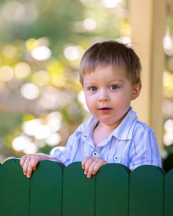 Outdoor portrait of a boy