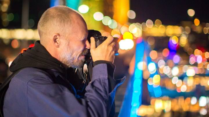 Photographer and Bokeh at Vivid Sydney