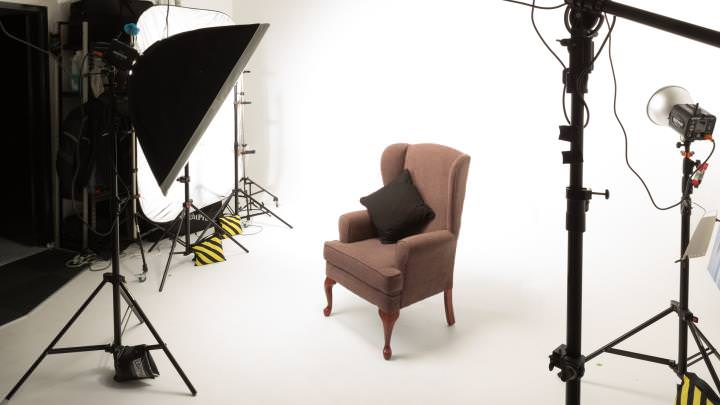 Studio with chair prop