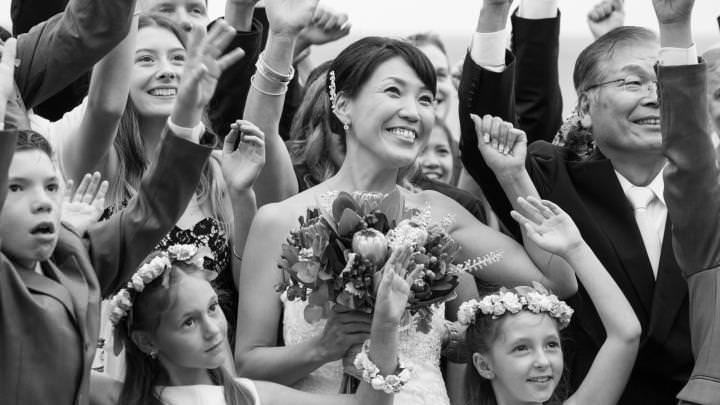 Candid - Bride in the crowd