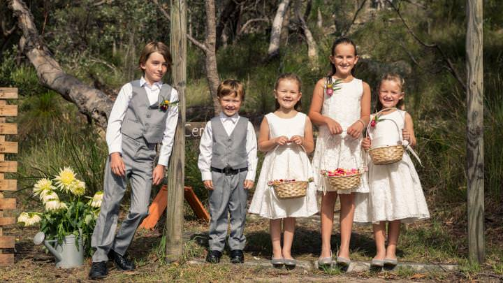 Children waiting for the Bride to arrive